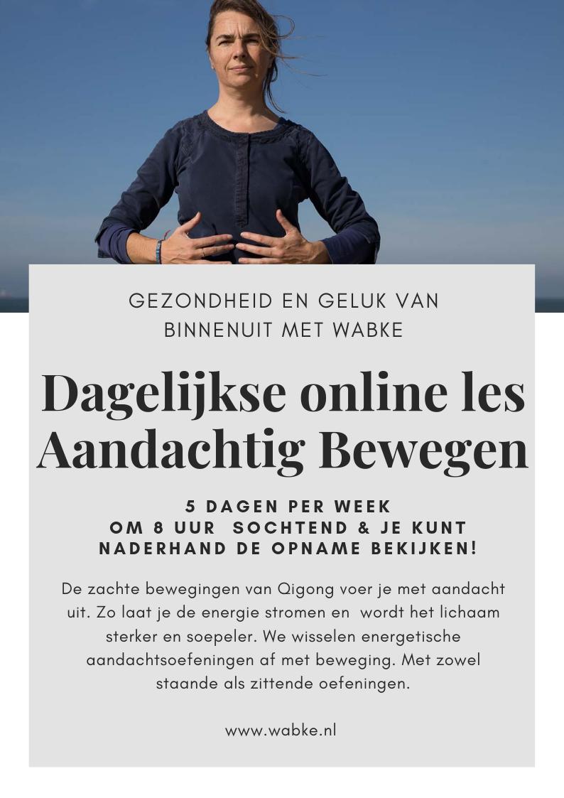 flyer Dagelijks online Met Aandacht Bewegen