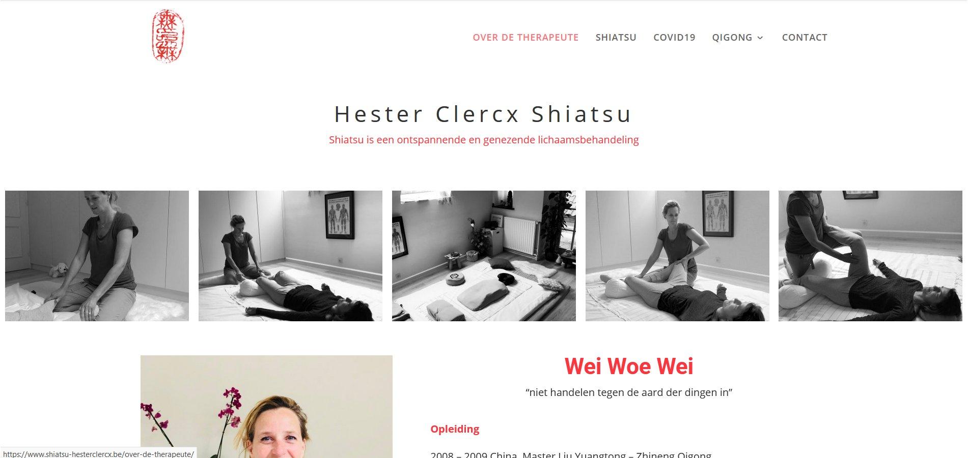 shiatsu wordpress website