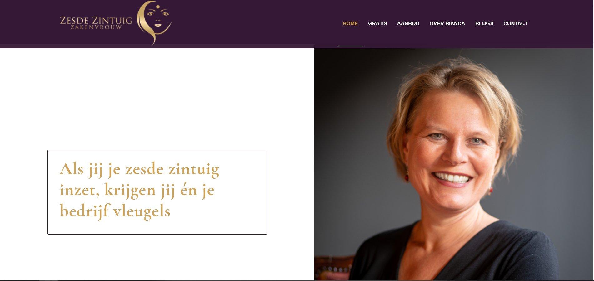zakenvrouw wordpress website